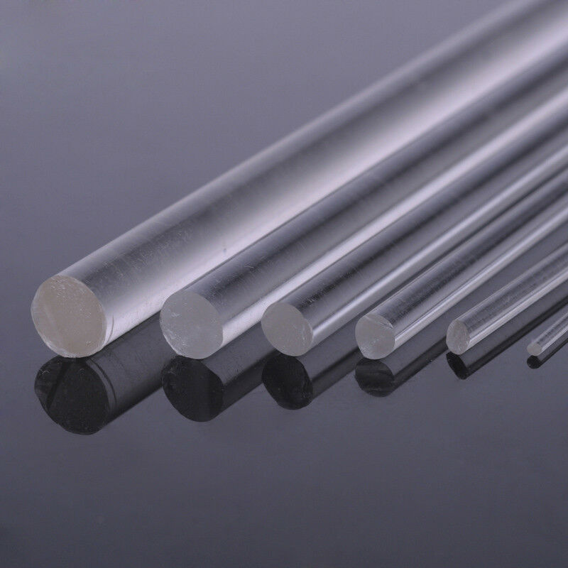 Rod 6mm Clear Acrylic Round Circular Perspex Plexiglass 50mm Long High Quality