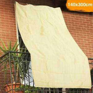 Tenda da Sole Telo Parasole 140x300 in HDPE con Anelli per Balcone Veranda Beige