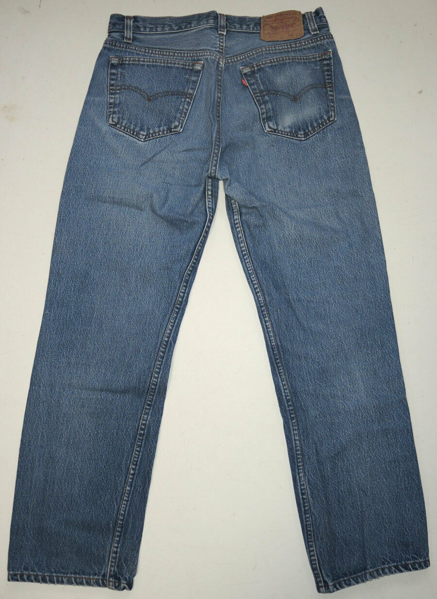 Vtg 90s Levi's 501 Jeans Made In USA Faded 32.5x2… - image 2