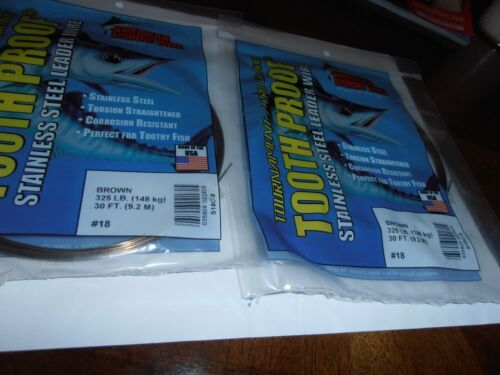 AFW---STAINLESS--# 18--TOOTH PROOF--BROWN--325# ----TWO- 30 FOOT PACKAGES