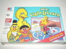Sesame Street Light & Learn Game Milton Bradley w Magic Wand 1991 MIB Sealed