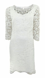 Monsoon-Bridal-Cocktail-Cream-Lace-Shift-Dress-with-Jewelled-Neckline-Orig-Price