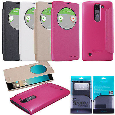 NEU Nillkin Flip Case PU Leder Smart Cover Tasche Quick Window Für LG G4c H525N