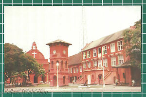 CWC-Malaya-1950s-1960s-Red-Clock-Tower-Malacca-Melaka-Postcard-3309-NM