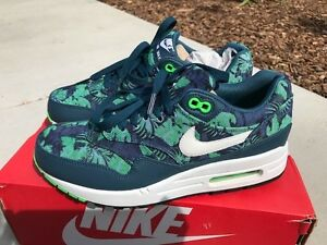 c39fdce24ca99 Nike Air Max 1 GPX Blue Floral Mens Size 7 684174-400