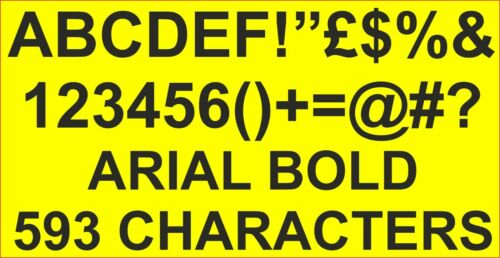 RC Vinyl Sticker Decals Ariel LETTERS NUMBERS 10MM PRE CUT FPRC800 WHITE GLOSS