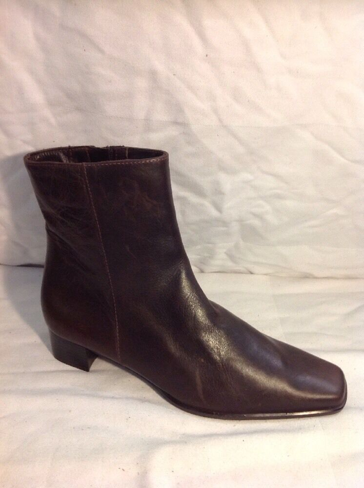 Patricia Miller Brown Ankle Leather Boots Size 38