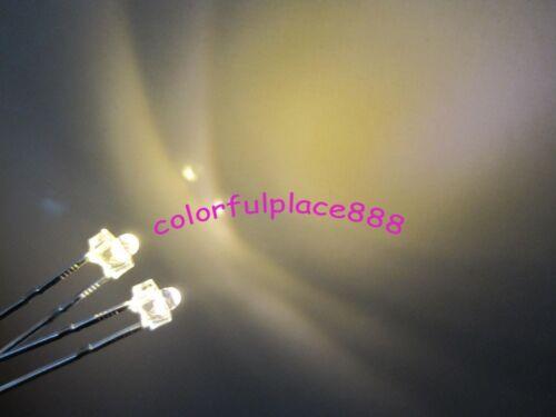 100pcs New 1.8mm Warm White Water Clear 12000MCD LED Leds Resistors for 12V