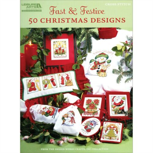 Leisure Arts-fast /& Festive 50 Christmas Designs