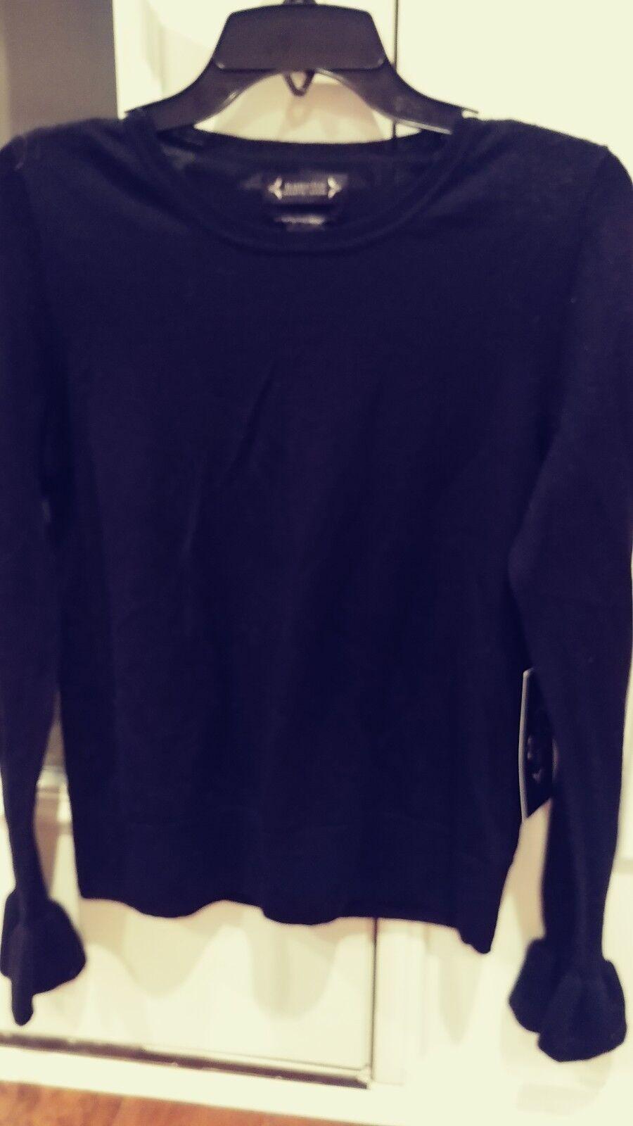 Nanette Lepore NWT Women's 100% Extra Fine Merino Wool Bell Cuff Sweater Size M