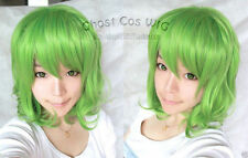 New Vocaloid/GUMI Short Green Mix Curly Cosplay Wig + gift Wigs Cap