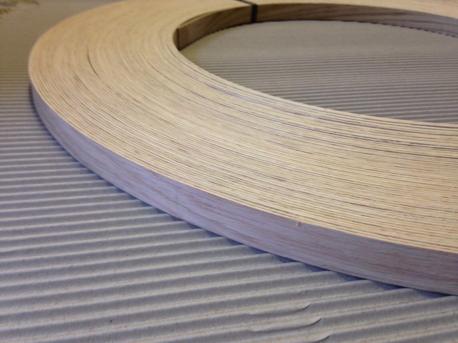 American White Oak Unglued Wood Veneer Edging 1mm Thick x22mm x 100m
