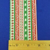 Vintage Lion Craft Ribbon Trim Christmas Stripes Calico gaiety-2 3/4 X 10 Y