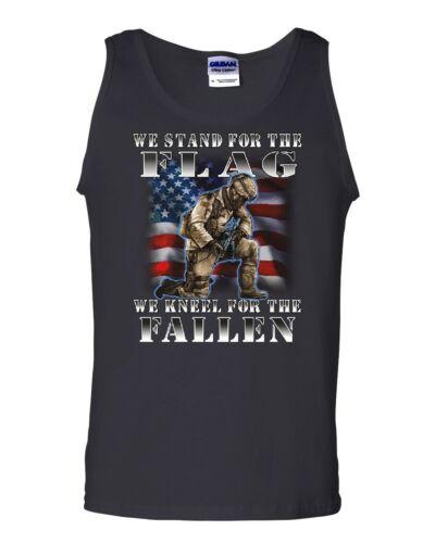 We Stand for the Flag Tank Top Veteran Military POW MIA Army Navy Sleeveless