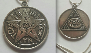 OCCULT-ALL-SEEING-EVIL-EYE-TETRAGRAMMATON-MAGICK-AMULET-S-SILVER-NECKLACE-LUCK