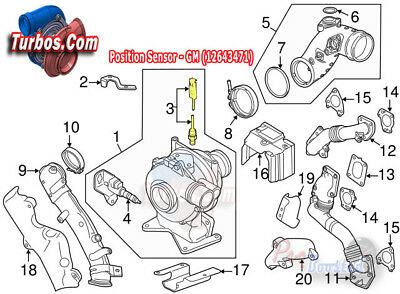 Duramax Vane Position Sensor 763527-0512 2004.5-05 Chevy GMC 6.6L for LLY  Eng   eBayeBay