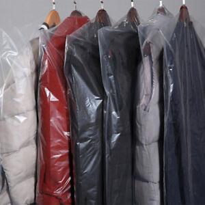 revendeur 215c1 d003c Détails sur 10Pcs Housse Vêtements Rangement Costume Plastique Sac  Anti-poussière Protection