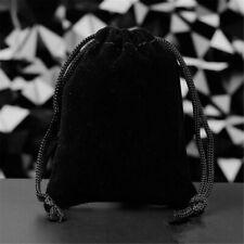 "1000pcs 2x2.75/"" Black Velvet Drawstring Pouches For Jewelry Wedding Gift Bag"