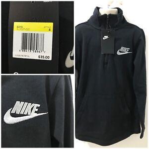 861b5f1906cf Nike Boys Black Size S Half-Zip Pullover Shirt  35 NWT  AJ3027-010 ...