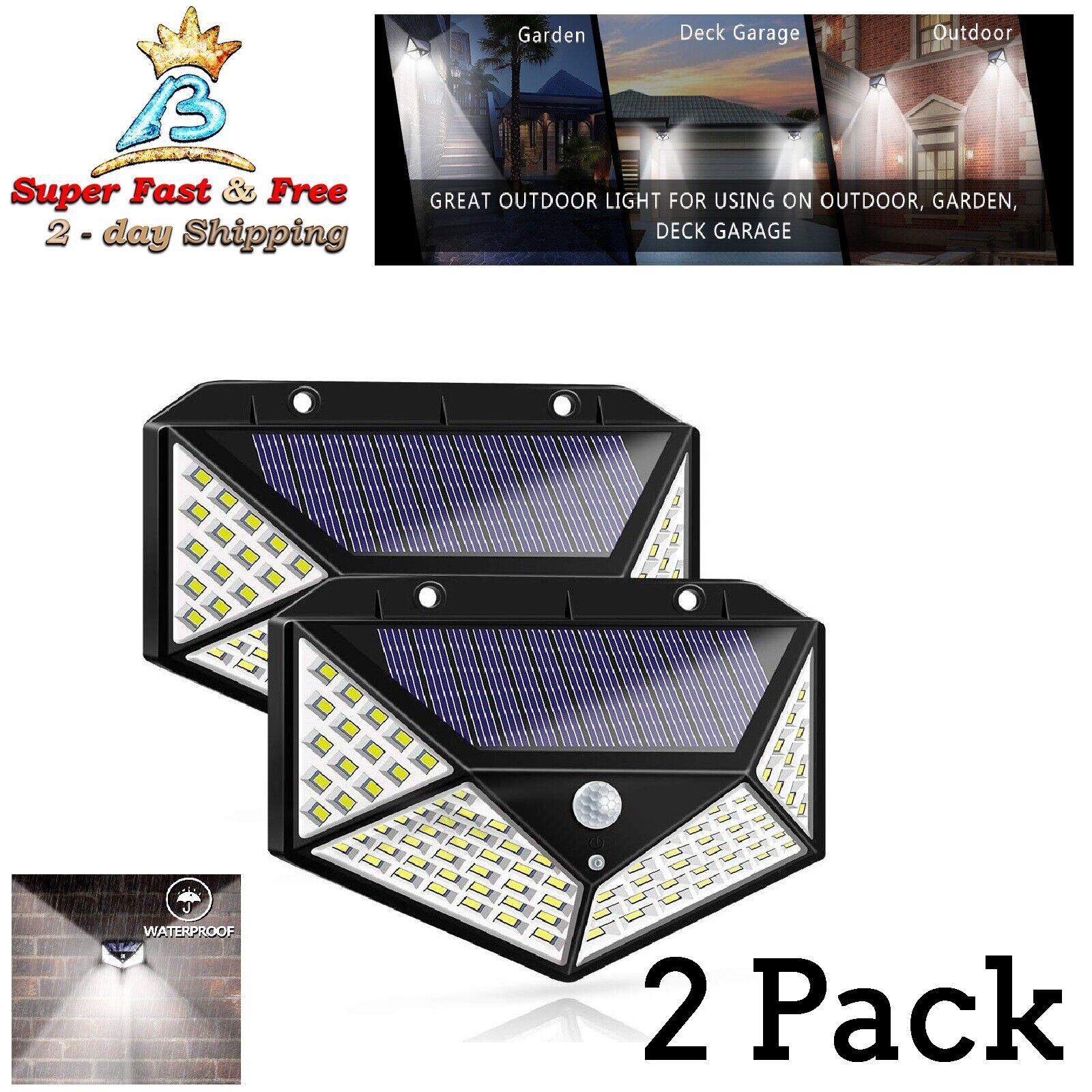 Luces de Seguridad de Instalacion F/ácil con Cable 16,4 Feet// 5 m con Panel Solar 2 Luces Solares Exterior Luz de L/ámpara Impermeable de 100 LED de Pared de Inducci/ón de Cuerpo Humano
