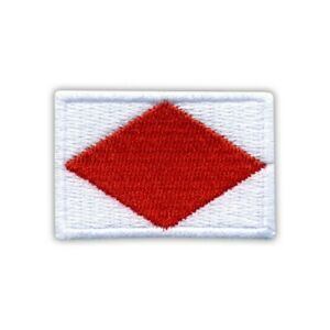 Flag Delta Embroidered PATCH//BADGE