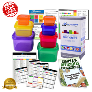 21 Day Fix Portion Control Diet Containers Body Fitness Meal Plan Weight Loss