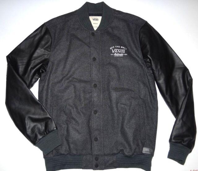 b2a7320e47 VANS Mens Deming Varsity Wool Blend Jacket Medium