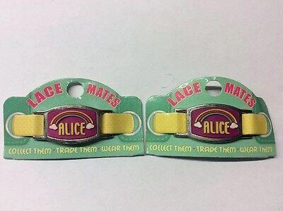 """Alice 2 Pizzo Mates """"alice"""" (scarpa Bracciale Charms) Partito Favori Spedizione Gratuita-mostra Il Titolo Originale"""