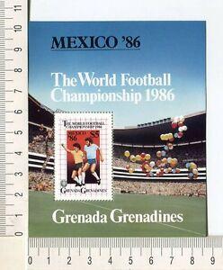 36743) Grenada Grenadines 1986 MNH World Cup Football