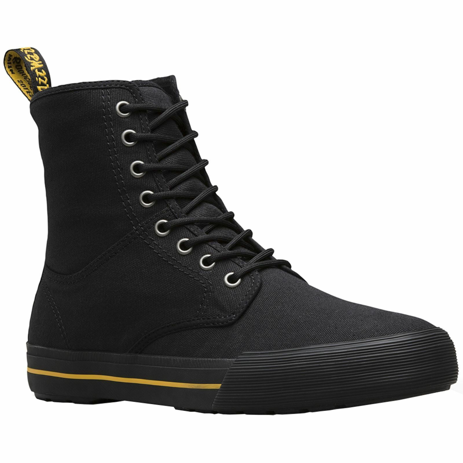DR. Martens Winsted 8-Eyelet nero donna Canvas Hi-Top Sporty Ankle stivali