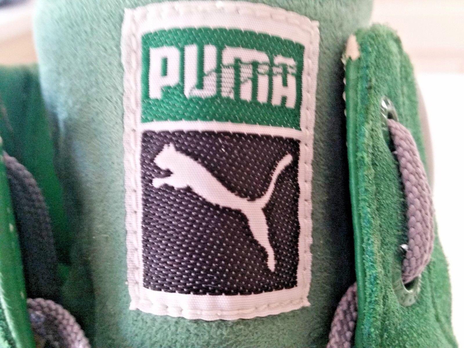 Puma primo round round round ex verde scamosciata alto 181980-06, taglia 14 d1f8c9