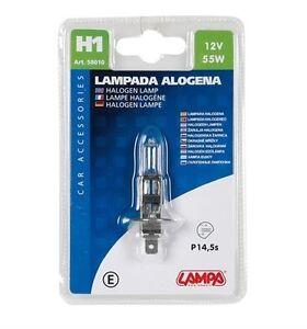 1 Pz D//blister Omologata Per Uso S 12v Lampada Alogena H11-55w Pgj19-2
