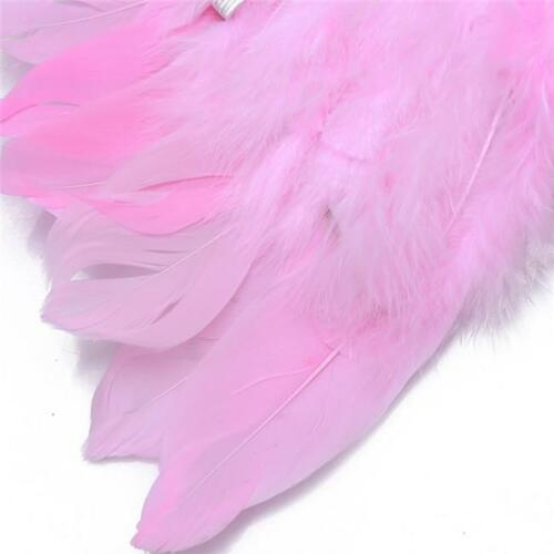 White//Pink Feather Angel Fairy Child Adult Girl Set Halloween Fancy Costume SH