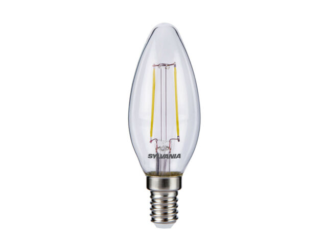 SYLVANIA 2.1W del traditionnel Bougie ampoule e14 sES blanc chaud 2700K