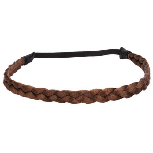 Ladies Wig Twist Hair Bands Synthetic Braided Plait Headband Accessories AS