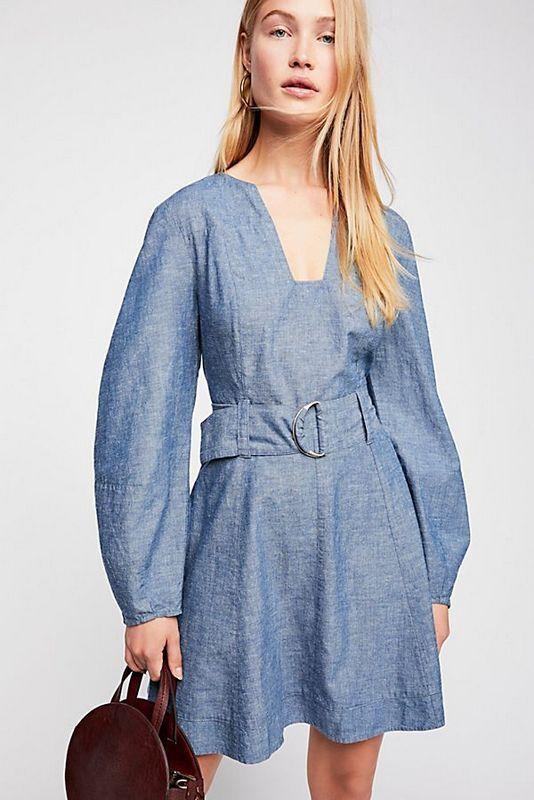 Libre People Neuf avec étiquettes taille moyenne KarHommes Robe nouveau bleu M