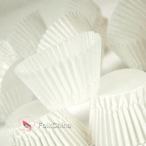 500pcs White 5cm Cupcake Muffin Baking Cases Fondant Cake Decoration Wedding
