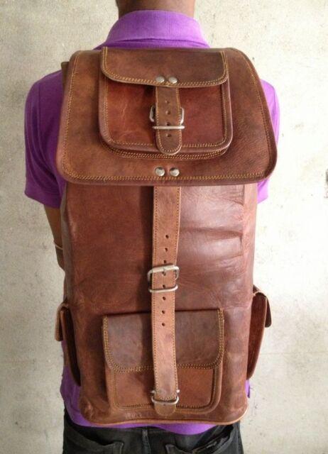Men/'s Leather Vintage Backpack Shoulder Bag Messenger Bag Rucksack Sling Bag