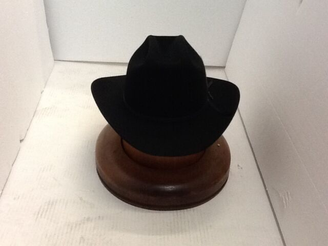 outlet store sale limited guantity various styles Stetson Cowboy Hat 6X Beaver Fur Black RANGE With Free Hat Brush!!
