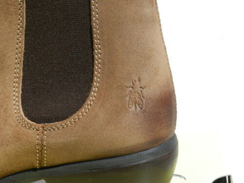 Montantes Tan Chaussures Uk7 Make Bottines Femme Chelsea Boots New Fly London 40 znfwCxzaq