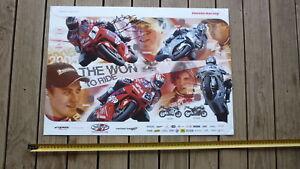 ADAM-FURGUSSON-HAND-SIGNED-HONDA-MOTORCYCLE-RACING-TEAM-POSTER