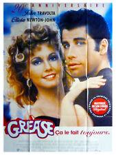 Affiche 120x160cm GREASE 20 ÈME ANNIVERSAIRE 1978 Travolta, Olivia Newton-John R
