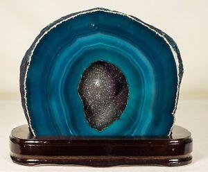 14Lbs-Agate-Geode-Crystal-Quartz-Polished-Druzy-Specimen-Cluster-Brazil