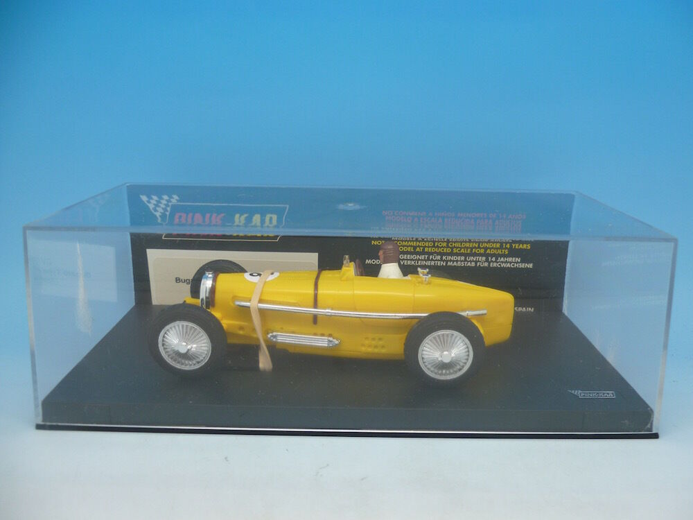 Pink Kar CV030 Grand Prix Bugatti Type 59 in Yellow, just Pink Kar to base mint