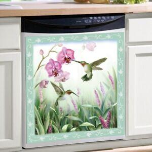Beautiful-Springtime-Hummingbird-Kitchen-Dishwasher-Cover-Magnet