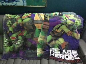 Vintage TMNT Teenage Mutant Ninja Turtles Blanket Plush Throw We