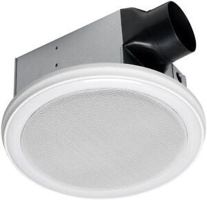 100cfm Bathroom Exhaust Fan Bluetooth Audio Speaker Led