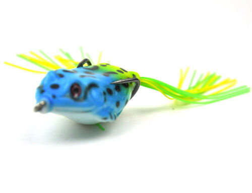 200Pcs Rubber Frog Fishing Lures Soft Float Bait 6cm//2.3/'/' With Retail Box