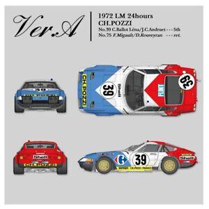 1/12 Kit Ferrari 365 Gtb4 Le Mans 1972 Ch.pozzi Carrefour - Usine de modèles Hiro