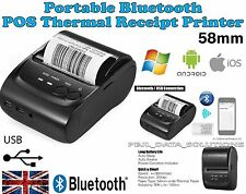 POS-5802DD Mini Portable Bluetooth USB Thermal Printer POS Android iOS Windows